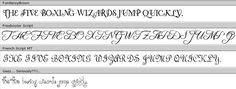 Swirly Fonts Swirly Fonts, French Script, Silhouette