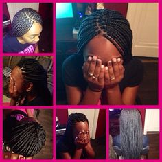 Medium Box Braids w/ Dipped Ends