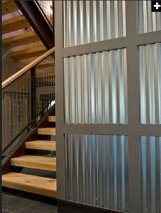 9f27cd214a86ac4f8f9bfb9668813560  Pine Trim Corrugated Metal Walls