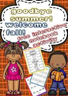 Goodbye Summer! Welcome Fall! Free Interactive Notebook Activity