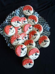 Galletas de cookies 2 docena MINI pirata del por SweetArtSweets