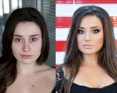 makeup transformation.  It's amazing what makeup can do.