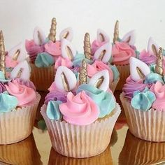 I can't wait to show you the cake that matched these little unicorn babies