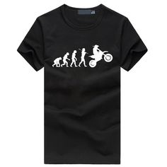 Evolution Motocross tops fashion fitness T-Shirts Men Funny mma Dirtbike brand Cotton O Neck clothing t shirt hip hop homme #Affiliate