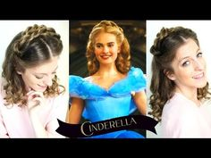 Disney's Cinderella Hair Tutorial | Lily James Hairstyle from Cinderella 2015 - YouTube