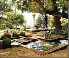 Outdoor garden space.