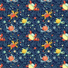 Ditsy Sea Turtles fabric by irrimiri on Spoonflower - custom fabric
