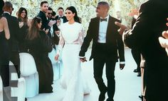 Kim Kardashian wed Kanye West in Florence in June 2014. Find out more about social media etiquette at weddings here http://www.graziadaily.co.uk/2015/01/social-media-at-your-friend-s-wedding#.VP8ks1JF0dU