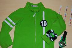 Ben 10 Omniverse Jacket.  Use a simple jacket pattern and embellish to make a Ben 10 jacket or use a store bought green sweatshirt and embellish.