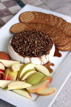 "pecan brown sugar kahlua baked brie - OK - I made this and OH MY - it is one of those things that you eat and after every bite you have to make a ""yummy sound"" mmmmmmmmmmmmmmmm! Get a really good Brie - I got mine at Costco Brie Appetizer, Finger Food Appetizers, Appetizers For Party, Appetizer Recipes, Appetizer Ideas, Antipasto, Tapas, Baked Brie, Sandwiches"