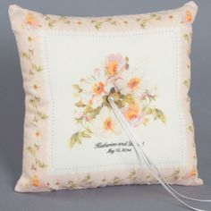 Vintage Pink Floral Ring Pillow - Ring Pillows - Wedding Essentials - Wedding Favors & Party Supplies - Favors and Flowers Graduation Party Favors, Wedding Favors, Our Wedding, Ring Bearer Pillows, Ring Pillows, Ring Pillow Wedding, Personalized Pillows, Square Rings, Perfect Pillow