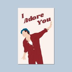 "Harry Styles ""Adore You"" Greeting Card Harry Styles Songs, Harry Styles Poster, Harry Styles Drawing, Harry Styles Baby, Harry Edward Styles, Aesthetic Painting, Aesthetic Drawing, Desenho Harry Styles, One Direction Drawings"