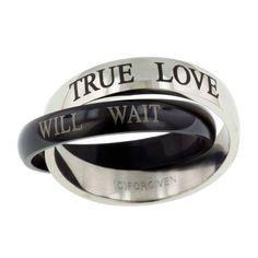 True Believer - TRUE LOVE WAITS, 2 Finish Purity Ring, $17.99 (http://www.truebelievershirts.com/true-love-waits-2-finish-purity-ring/)