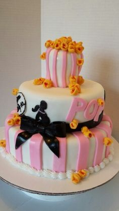 """Ready to Pop"" Baby Shower Cake"