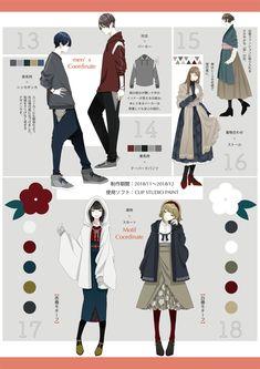 ❀花月❀ on in 2020 Kimono Fashion, Fashion Art, Girl Fashion, Fashion Outfits, Fashion Design, Street Fashion, Manga Clothes, Drawing Clothes, Clothing Sketches