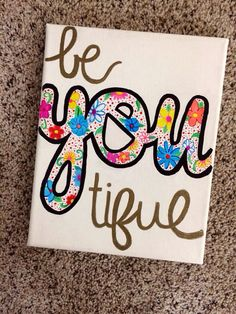 hand painted canvas with quote on Etsy, $15.00
