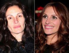 Without makeup - with makeup