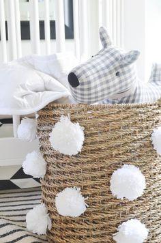 Project Nursery - DIY Pom Pom Storage Basket