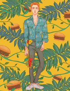 Miss Lumpalinda drawings — 🍔 All the Koko babies together 🍔 Foto Sehun Exo, Exo Kokobop, Chanyeol, Illustration Tumblr, Pop Illustrations, Exo Anime, Exo Lockscreen, Exo Fan Art, The Scene