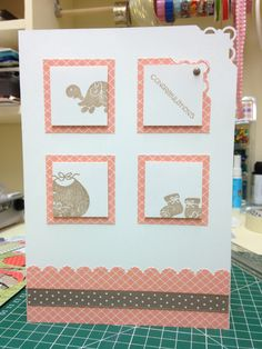 Stampin up Christening card, plain and simple
