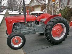 Old Massey Ferguson 35 Deluxe Diesel Tractor