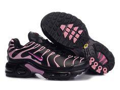 half off 7062f e141b Chaussures de Nike Air Max Tn Requin Femme Noir et Rose Tn Pas Cher