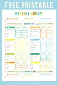 1000+ ideas about Printable Budget Sheets on Pinterest | Printable ...