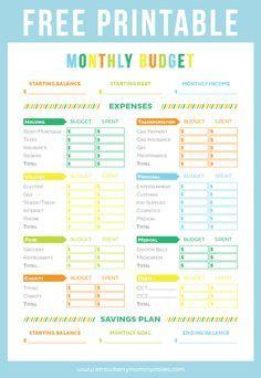 free printable budget sheet pinterest printable budget sheets