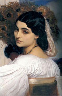 """Lord Frederic Leighton, Pavonia / chez Pandora, série """"art déco"""""""