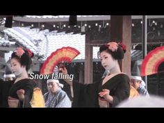 Geisha Dance as Snow Falls - with Japanese Poetry on Snow and Winter - YouTube
