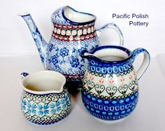Polish Stoneware pitchers
