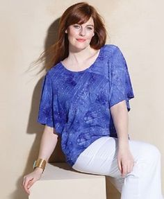 JM Collection Womens Plus Size Printed Embellished Dots Blouse Top 2X NWT $64.50 #JMCollection #Blouse #Casual