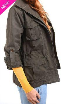 Safari open back canvas jacket