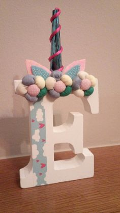 DIY Unicorn wooden letter for Eleftheria's birthday