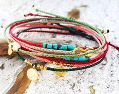 Wish bracelet Friendship bracelet Red string bracelet