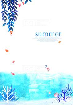 D170424b, 다울, 일러스트, 여름, 일러스트, 감성, 수채화, 배경, 여름배경, 이미지, 물고기, 산호, 미역, 물방울, 바다, 유일, 여행, 자연, 휴식, 해저, 해수욕장, 피서, 여름바다, 휴양지, 해수욕, 힐링, 일상탈출, 시원한, 파란색, 블루, 드로잉, 손그림, 물감, 캐릭터, 포토샵, 소스, 캘리그라피, 캘리, 타이포, 프레임, 비지니스, 표지, 잡지, 동화책, 동화, 어린이, 동심, 출판, 레이어, summer, 바캉스, 편집, 감성일러스트, 풍경, 여름풍경, 편지, 편지지, 꽃, 잎,#유토이미지 Beautiful Sky, Illustrations And Posters, Under The Sea, Certificate, Invitations, Watercolor, Summer, Pen And Wash, Illustrations Posters