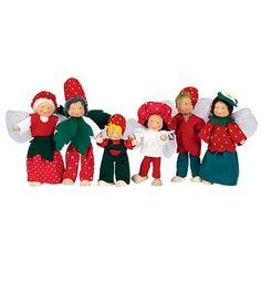 Kathe Kruse® Handcrafted Woodland Fairy Dollhouse Dolls