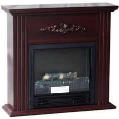 """Quality Craft Traditional 26"""" Electric Fireplace, Chestnut"""