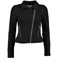 Boohoo Ashley Denim Jacket ($14) ❤ liked on Polyvore featuring outerwear, jackets, jean jacket and denim jacket