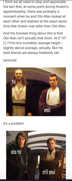 The best way this would happen is if Obi-Wan's about to bawl Ani out.