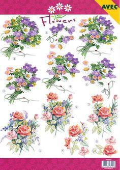 Decoupage Paper Avec Flowers 6000051