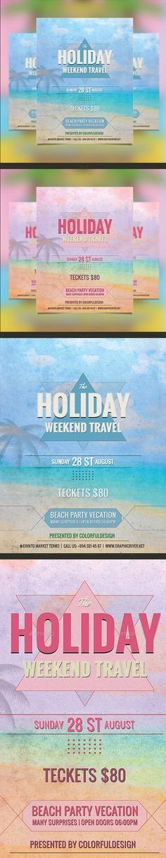 Holiday Travel Flyer  Event Flyers And Print Templates