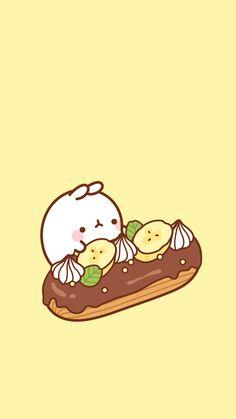 Molang and banana cake