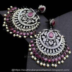 Indian jewelry earrings - Earrings collection - Jewelry design - Indian jewelry - Traditional e - Trend 2019 Jewelery Indian Jewelry Earrings, Indian Jewelry Sets, Jewelry Design Earrings, Gold Earrings Designs, Indian Wedding Jewelry, Ear Jewelry, Jhumki Earrings, Silver Jewelry, Silver Rings