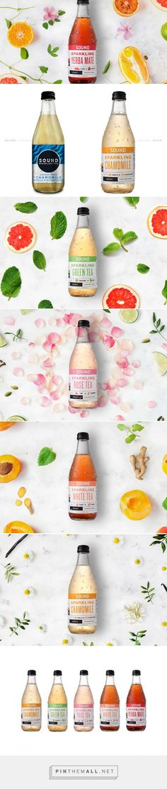 SOUND sparkling teas by Paperwhite Studio. Source: Daily Package Design Inspiration. Pin curated by @SFields99 #SFields99 #packaging #design #inspiration #ideas #product #rebranding #creative #beverages #tea #soda