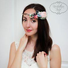 Boho hair Accessories Flower halo Bridal flower by ByKochetova