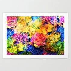 Fall Leave Abstract Art Print by Judy Palkimas - $17.68