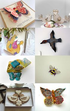 The Birds and the Bees with butterflies  by Jacquelyn Jones on Etsy--Pinned with TreasuryPin.com #promotingwomen