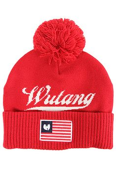 Wutang Brand Limited The Wu USA Beanie in Red Wutang 461426c455ba