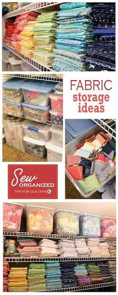 Fabric storage and organization, tips and ideas from A Bright Corner Sewing Room Storage, Sewing Room Organization, Fabric Storage, Craft Storage, Storage Ideas, Sewing Closet, Organizing Tools, Crafting Tools, Storage Hacks